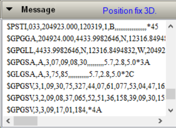 A 3D Position Fix in GNSS Viewer