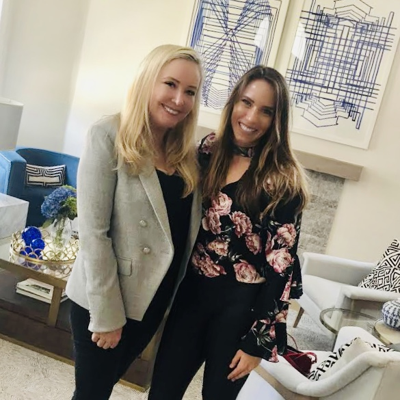 Shannon Beador from The Real Housewives of Orange County with Matchmaker, April Davis at Shannon's home in the OC.