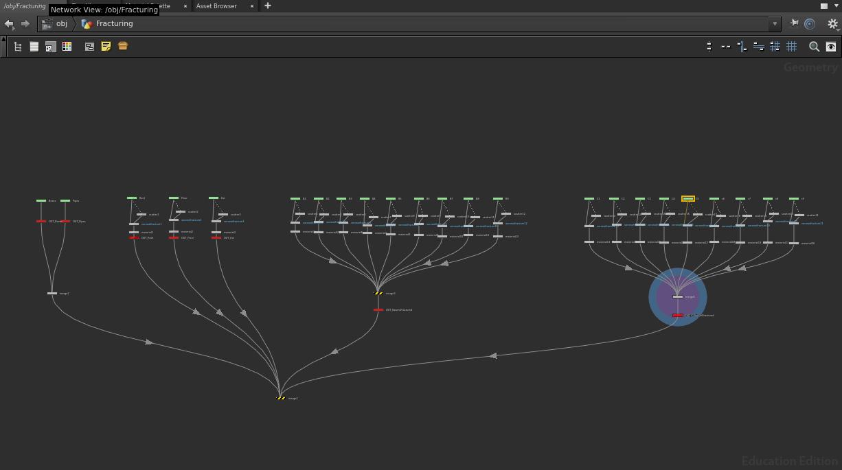 Full fracturing node tree