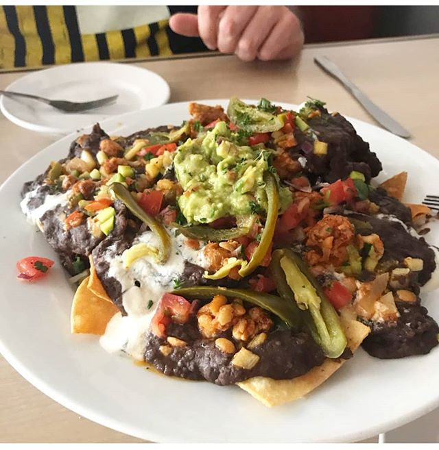 Every detail of our nachos is scratch-made. Come taste the difference a passion for food makes! 📸 @mmhigdon22  Don't forget to vote this last week for @sacurrent Best of 2019!  #vegano #vegan #vegansofinstagram #vegansofig  #vegannachos #whatveganseat #safoodpics #safoodie #compassionatecuisine #plantpowered #cashewcream