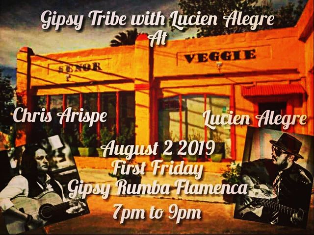 Gypsy Tribe with Lucien Alegre at Señor Veggie this First Friday! See you all in Southtown! #flamenco #southtownsanantonio