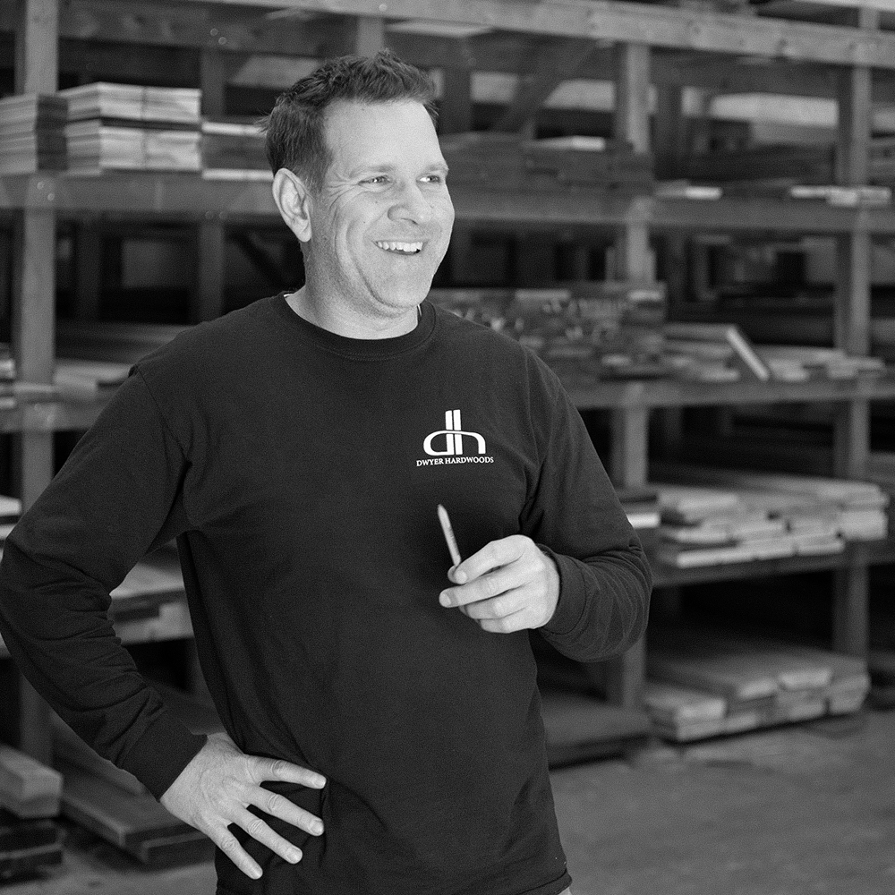 Kyle Dwyer - Kyle is a wood guru, manages our warehouse operations and has a knack for finding virtually any hardwood in both custom and stock configurations.Get a hold of Kyle here:Office: (401) 284-2305Email: kyle@dwyerhardwoods.com