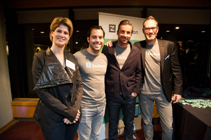 Team ZayZoon at Launch Party with Cynthia van Sundert, Executive Director at  The A100 after being recognized as The A100 One to Watch