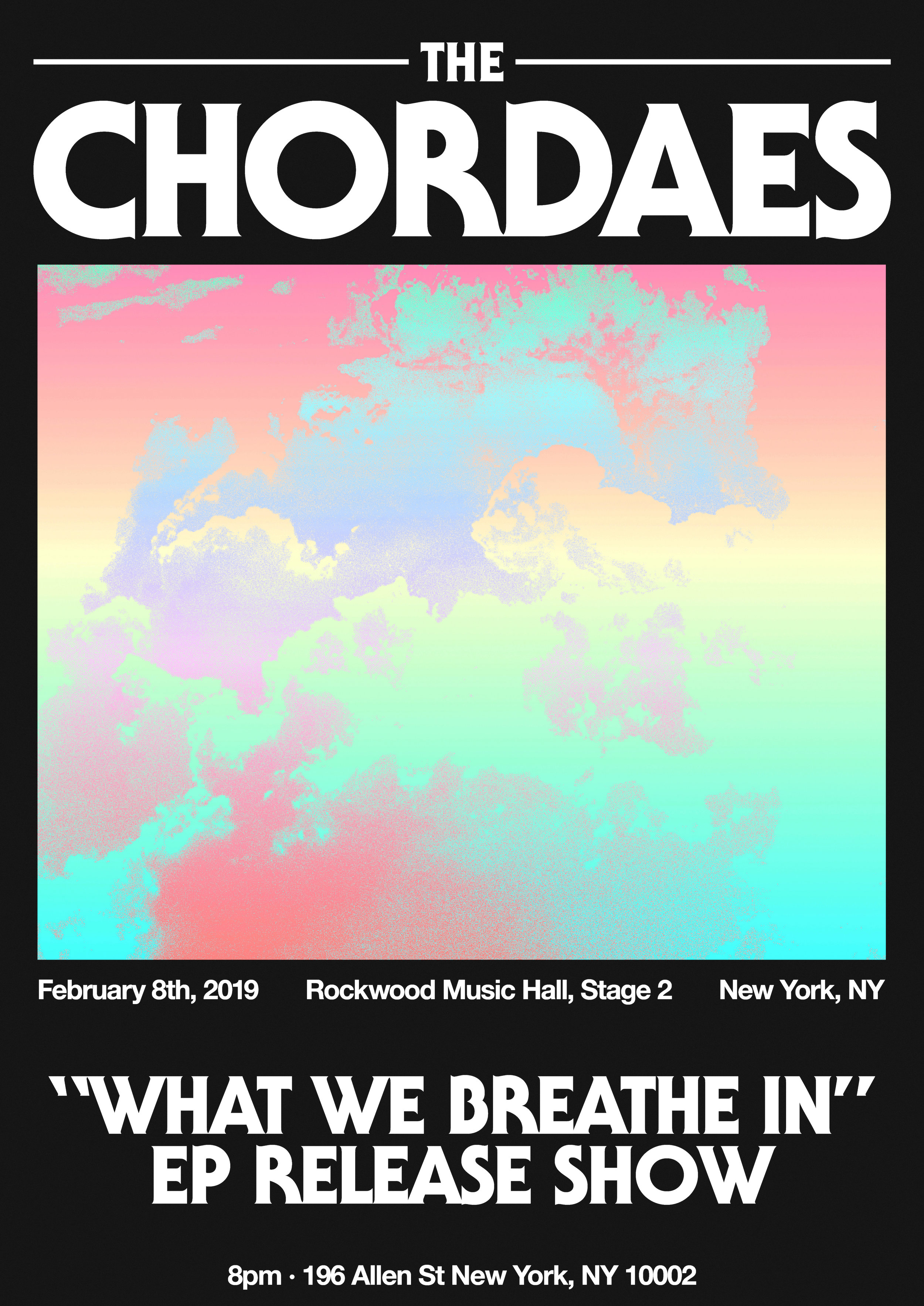 (1/1)  The Chordaes EP Release Show Poster Design
