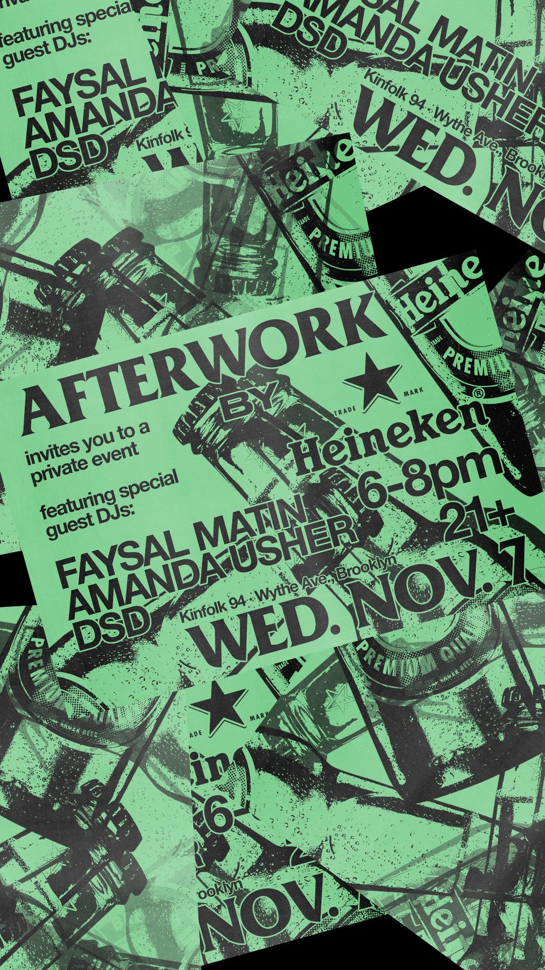 (3/3)  Scattered Invitation Instagram Story Format  Afterwork by Heineken Invitation Design November 2018