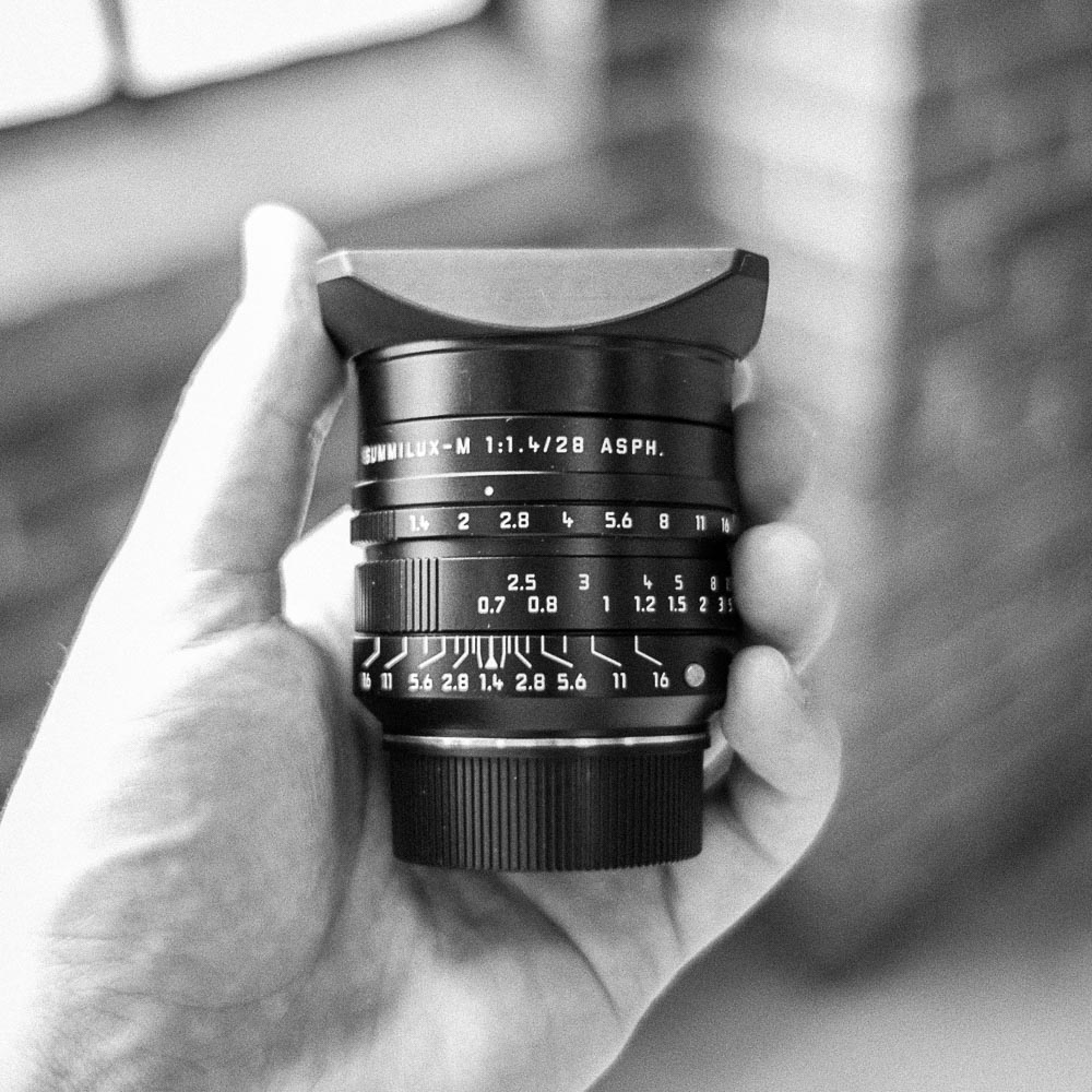 Leica Summilux-M: Prime Lenses  Single Lens: 75/day, 300/week, 56/day in studio  Five Lens Kit: 300/day, 1200/week, 225/day in studio  21mm f1.4, 24mm f1.4, 35mm f1.4, 50mm f1.4, 75mm f1.4  M Mount lenses, some with focus gears and hoods.
