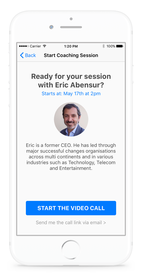 [App] Start a coaching session