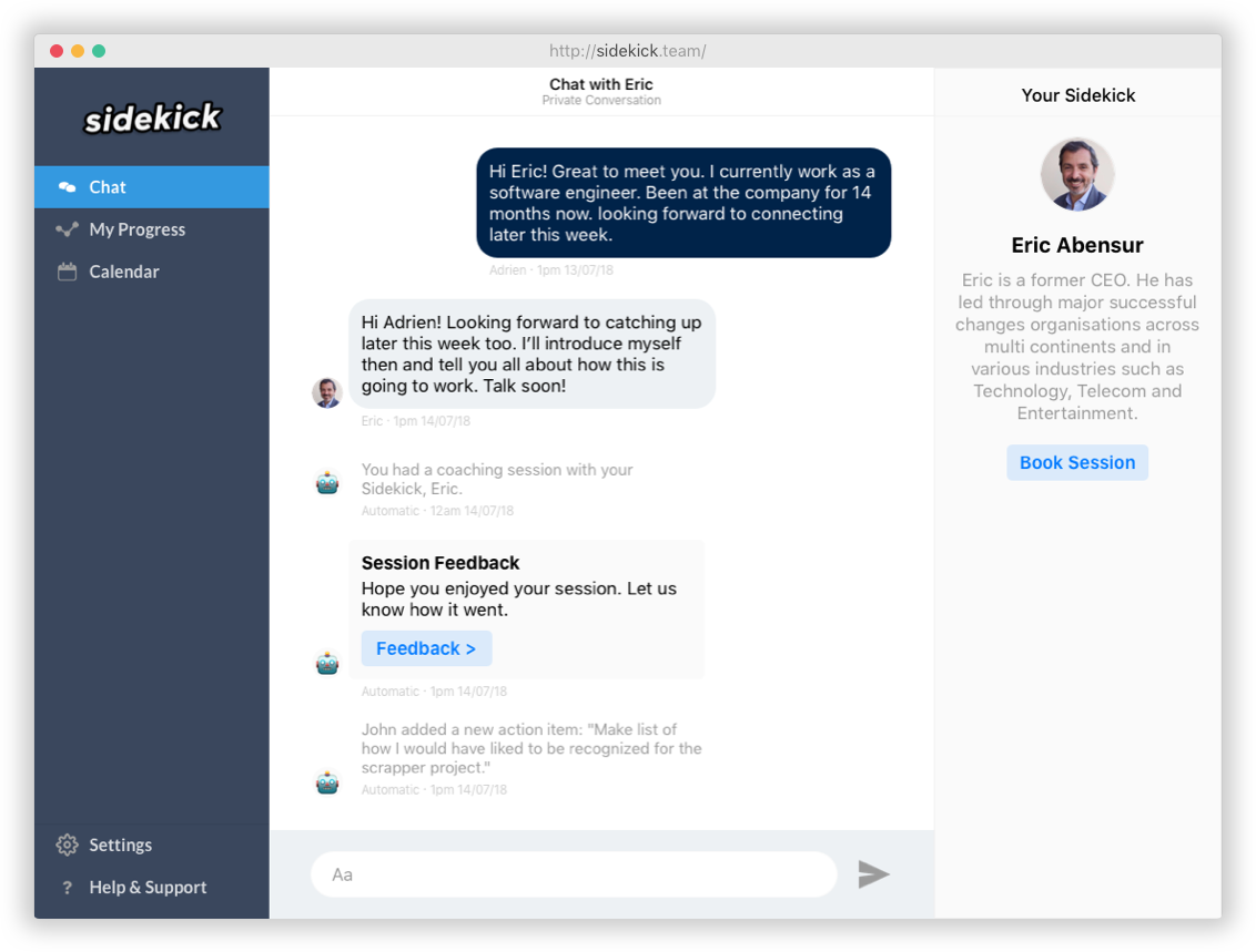 [Web] Chat with your coach