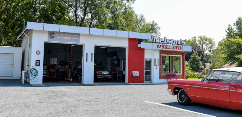 Nelson's Automotive shop in Nokomis