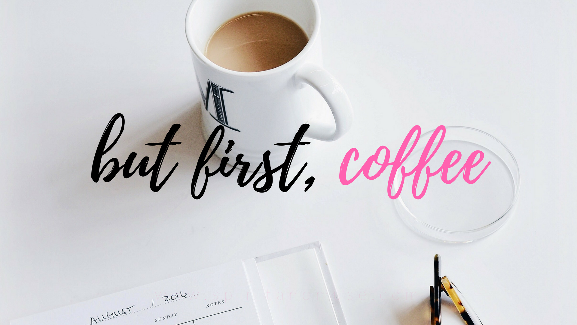 but first coffee - girl boss - free desktop wallpaper