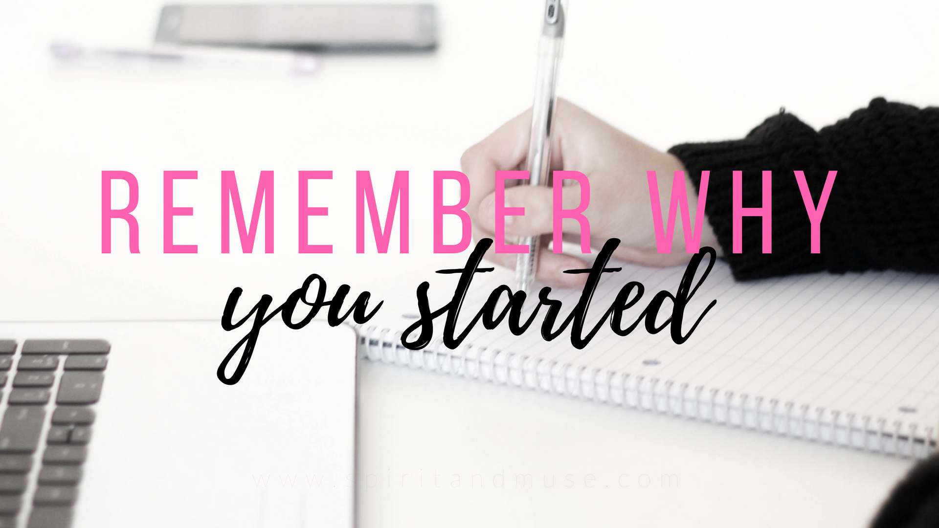 girl boss - remember why you started - free desktop wallpaper