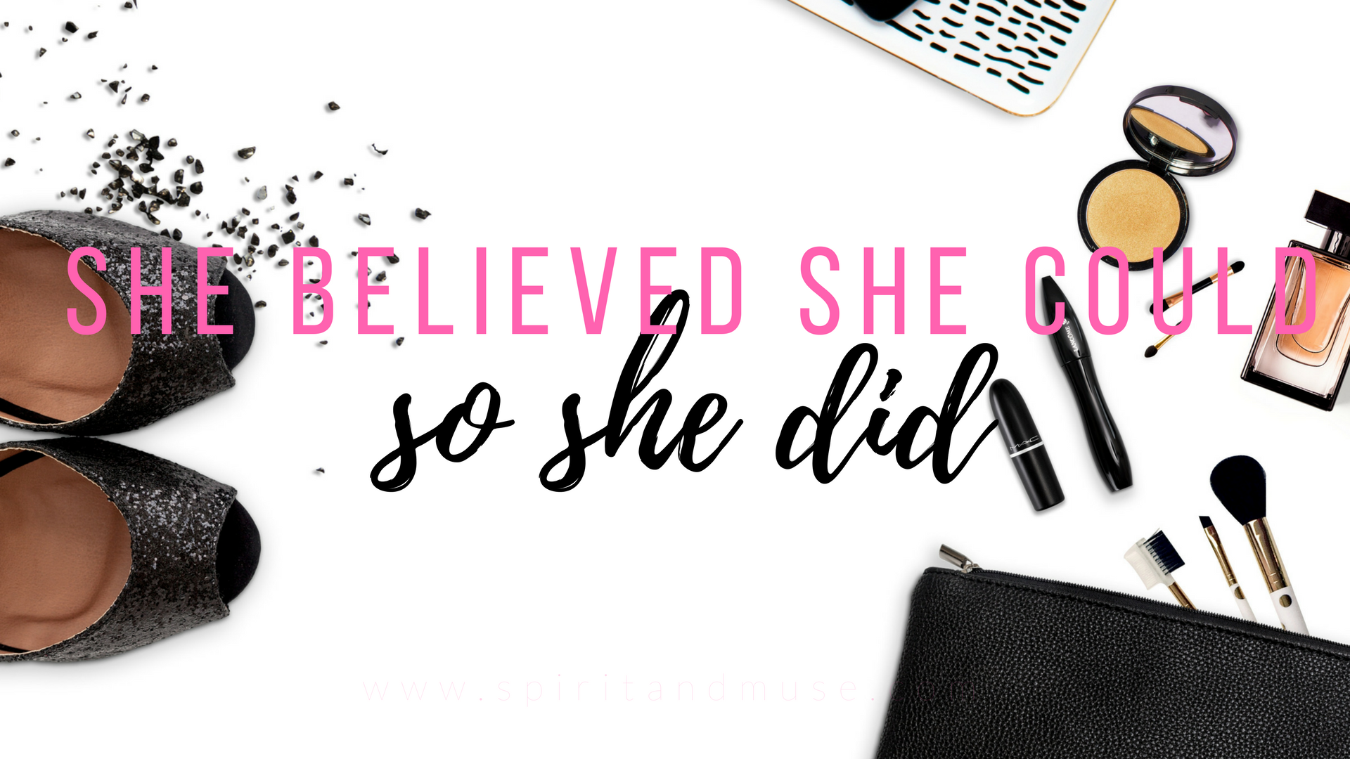 girl boss - she believed she could - free desktop wallpaper