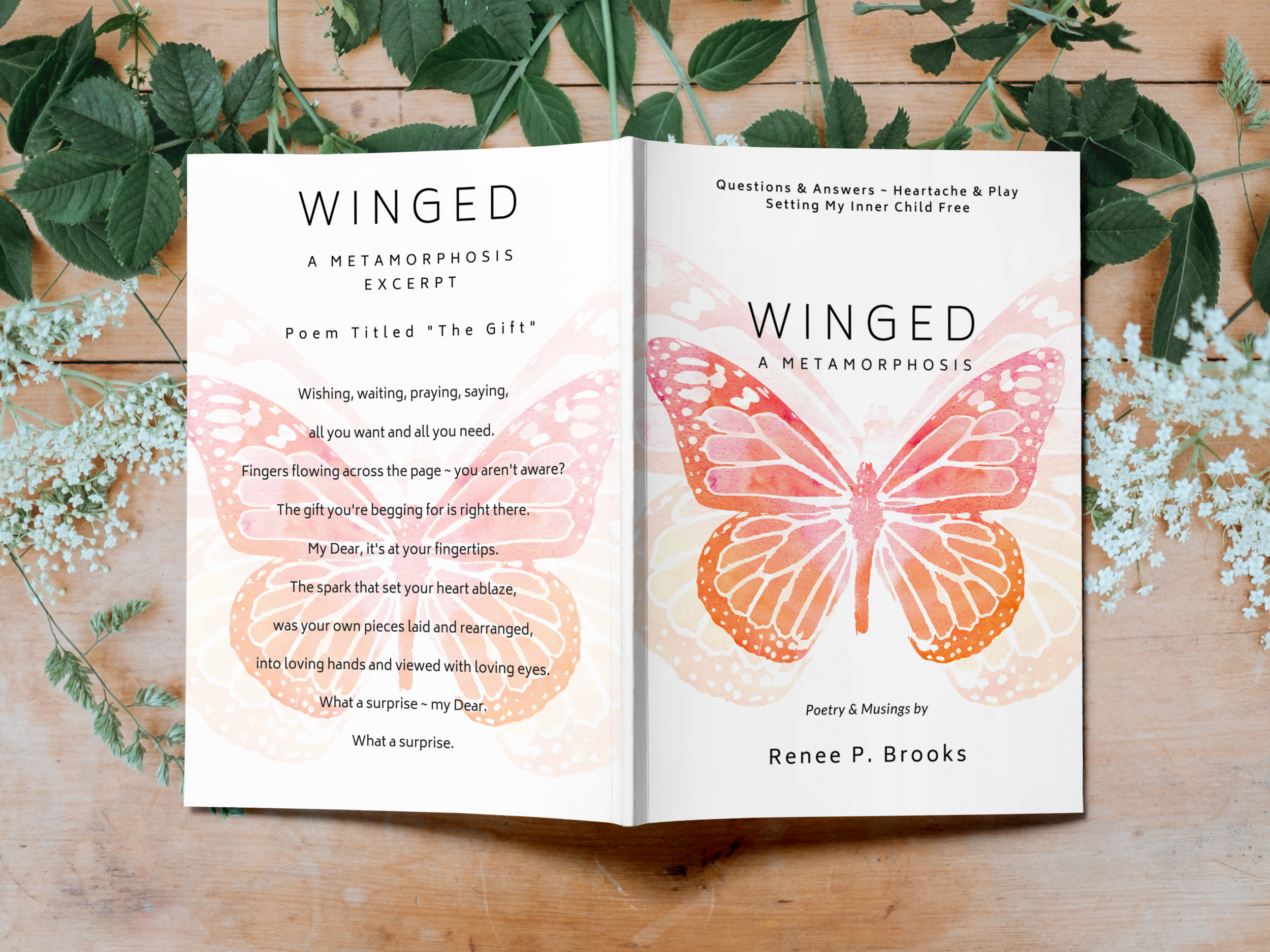 Winged A Metamorphosis Front & Back Covers