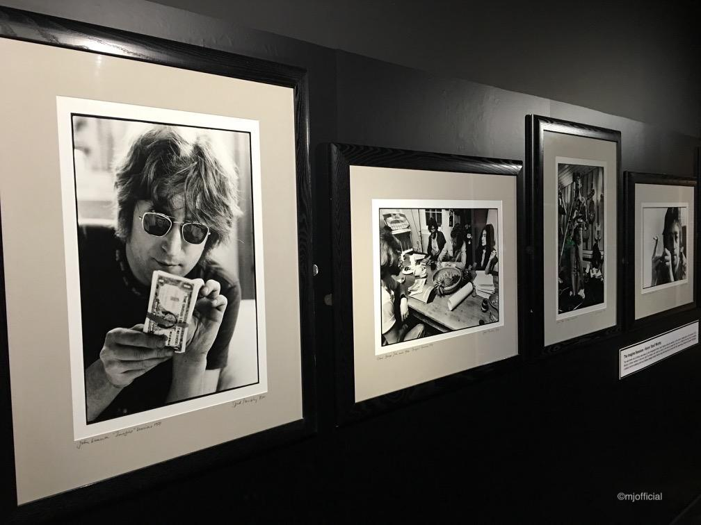 Image of Matt Johnson visiting The Beatles Story in Liverpool whilst on a artist creative day.