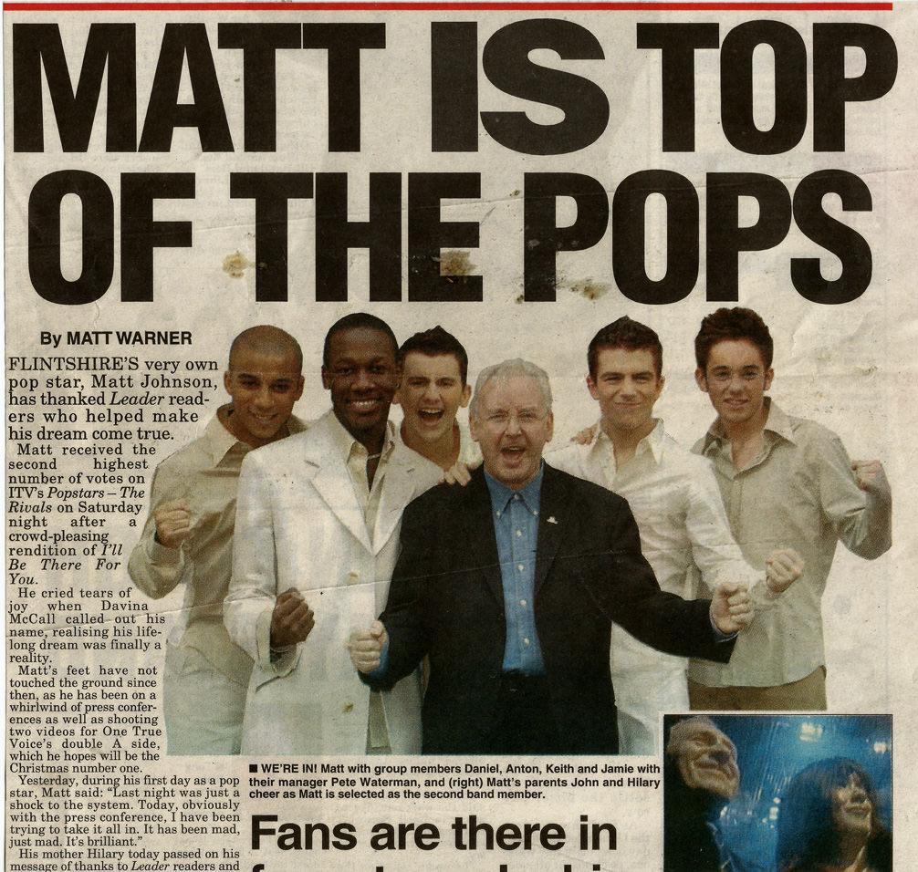Matt Johnson press article with One True Voice