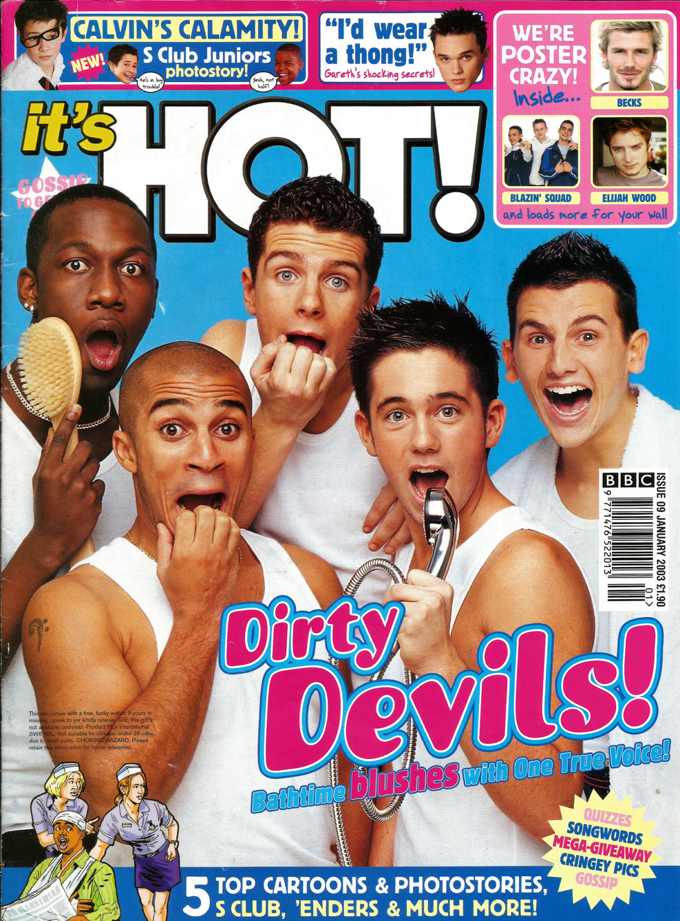 One True Voice on the cover of HOT magazine