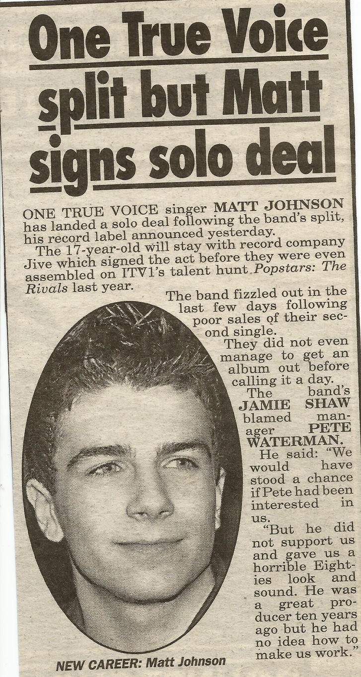 matt johnson signs a solo record deal