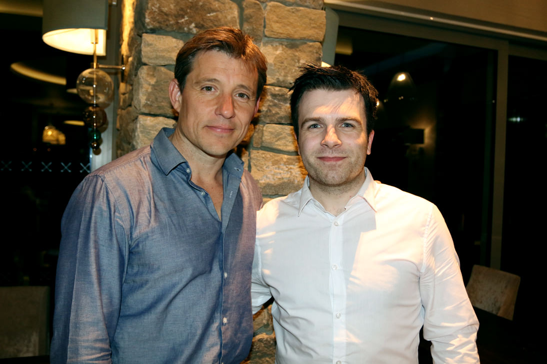 Me with TV personality Ben Shephard