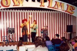 Me as a little clown age 7
