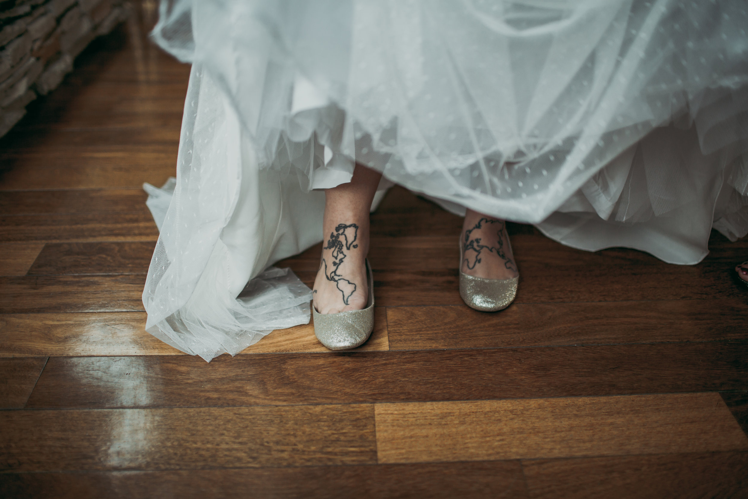 giacomo wedding hidden lake winery shoes dress foot tattoo