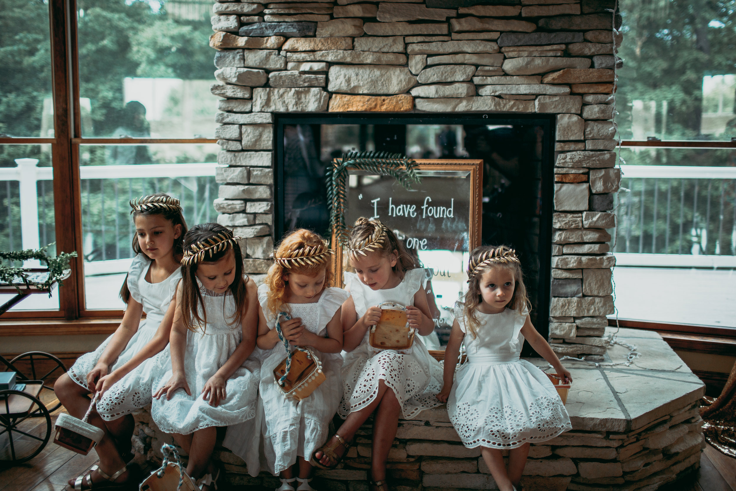 giacomo wedding hidden lake winery flower girls