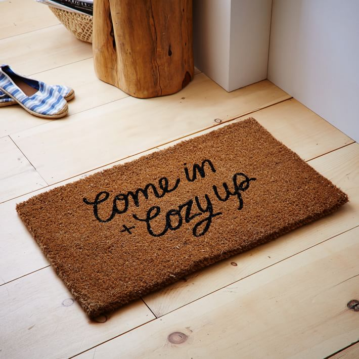 Come In and Cozy Up Coir Doormat