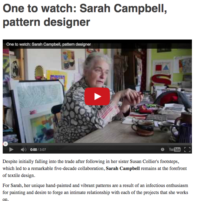 Homes & Antiques online. 'One to watch: Sarah Campbell, pattern designer'