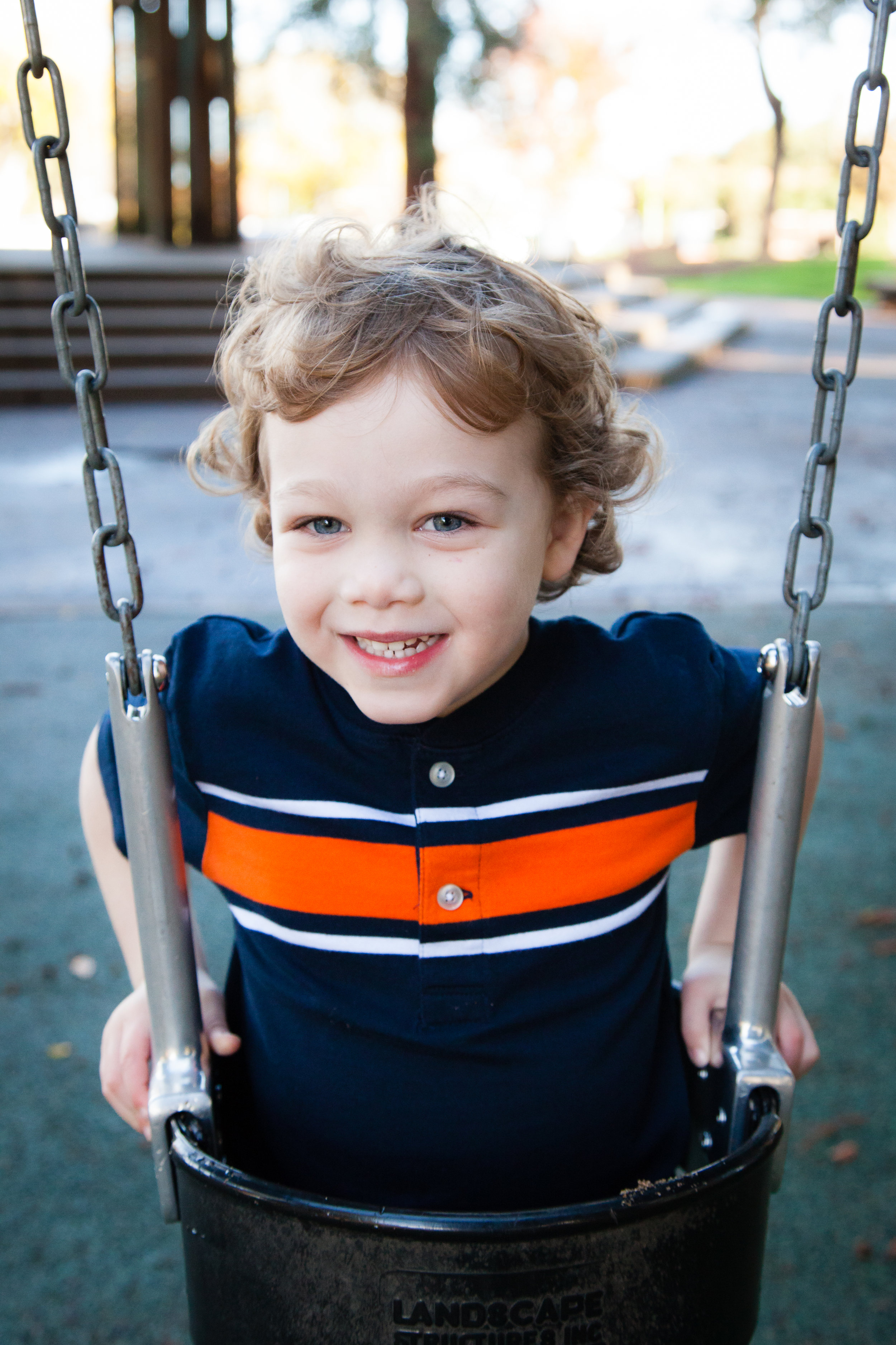 Nothing like a swing to get a kid (or an adult) to smile!