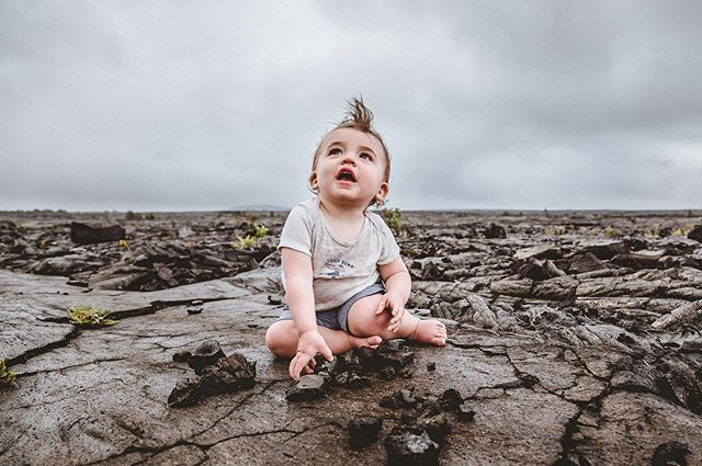 #fbf Lee in Hawaii on an old lava flow. #volcanoesnationalpark #carraonealphotography #childhoodunplugged