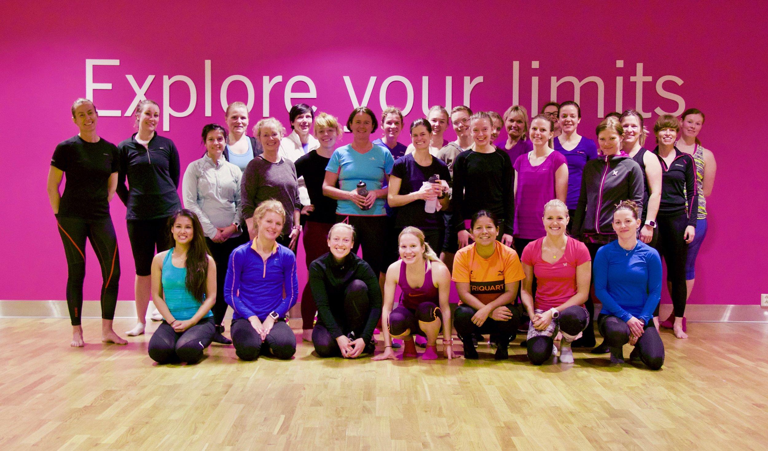 Foto: Caroline Vamnes/Ladies Edition. Bildet er fra en treningssamling i februar 2016 med felles lunsj etter treningen.