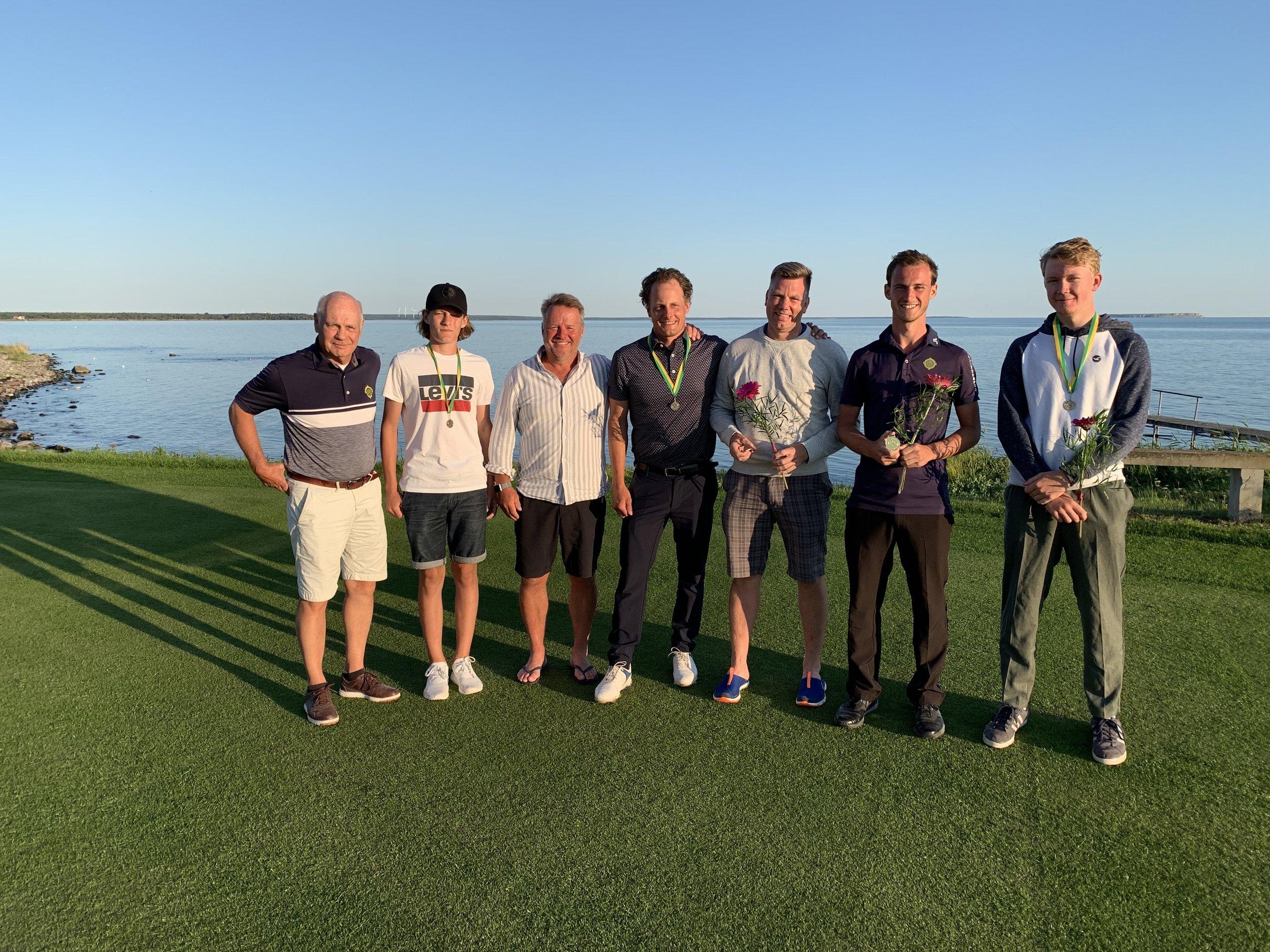 På bilden fr.v. ordförande Lars Leissner, Hugo Eldin, Nils Lindeblad, Martin Bendelin Munkhammar, Joakim Johansson, Colin Daly, Rasmus Collin