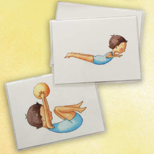 In-Tuned™ flashcards Set of 10 for postural balancing
