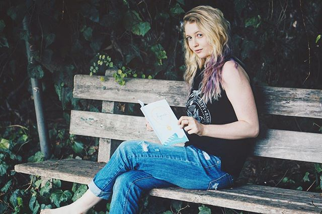 When @juniper_r.o.s.e catches you reading your own book while barefoot in the woods...
