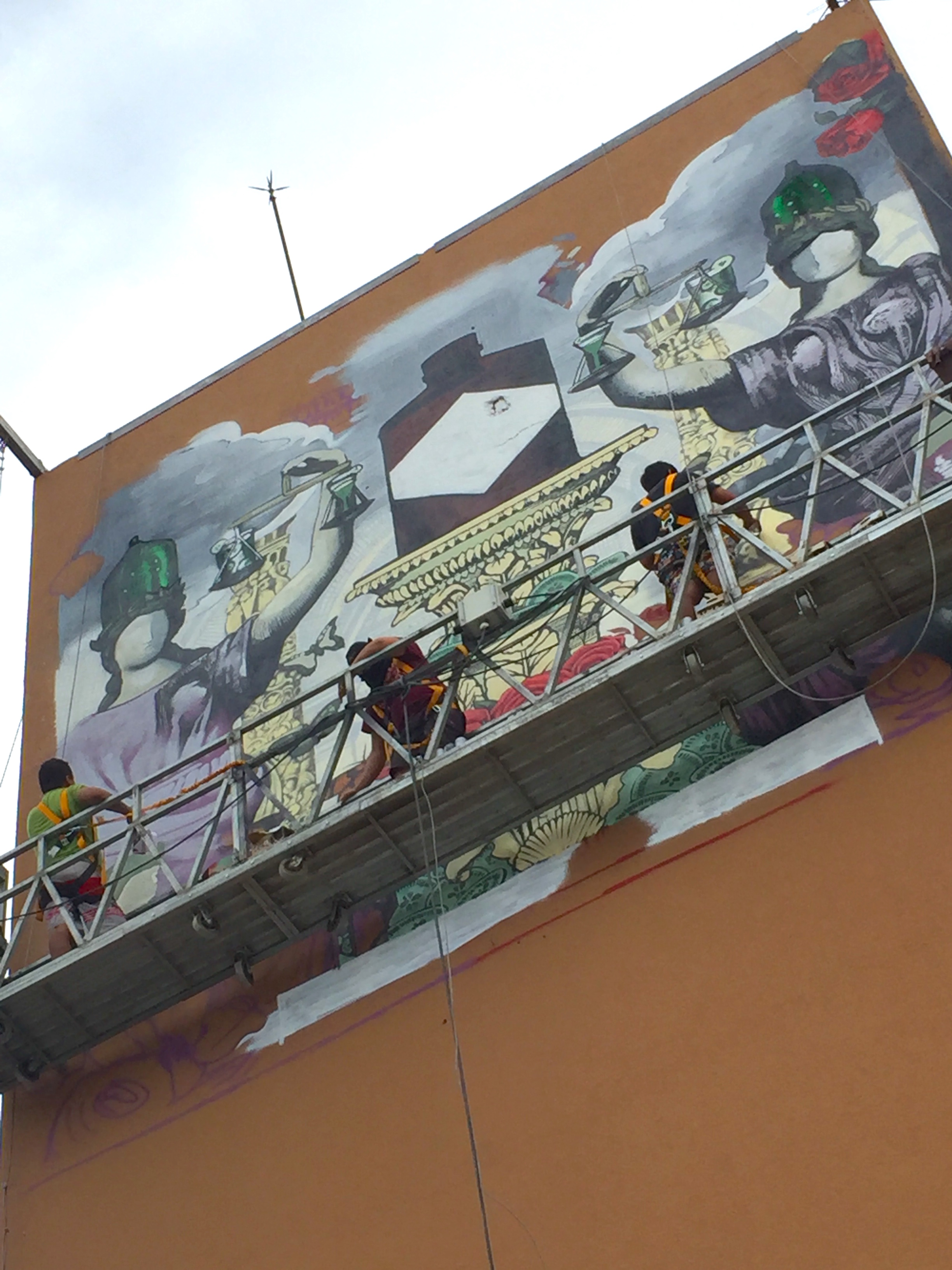 Hand painted mural art production