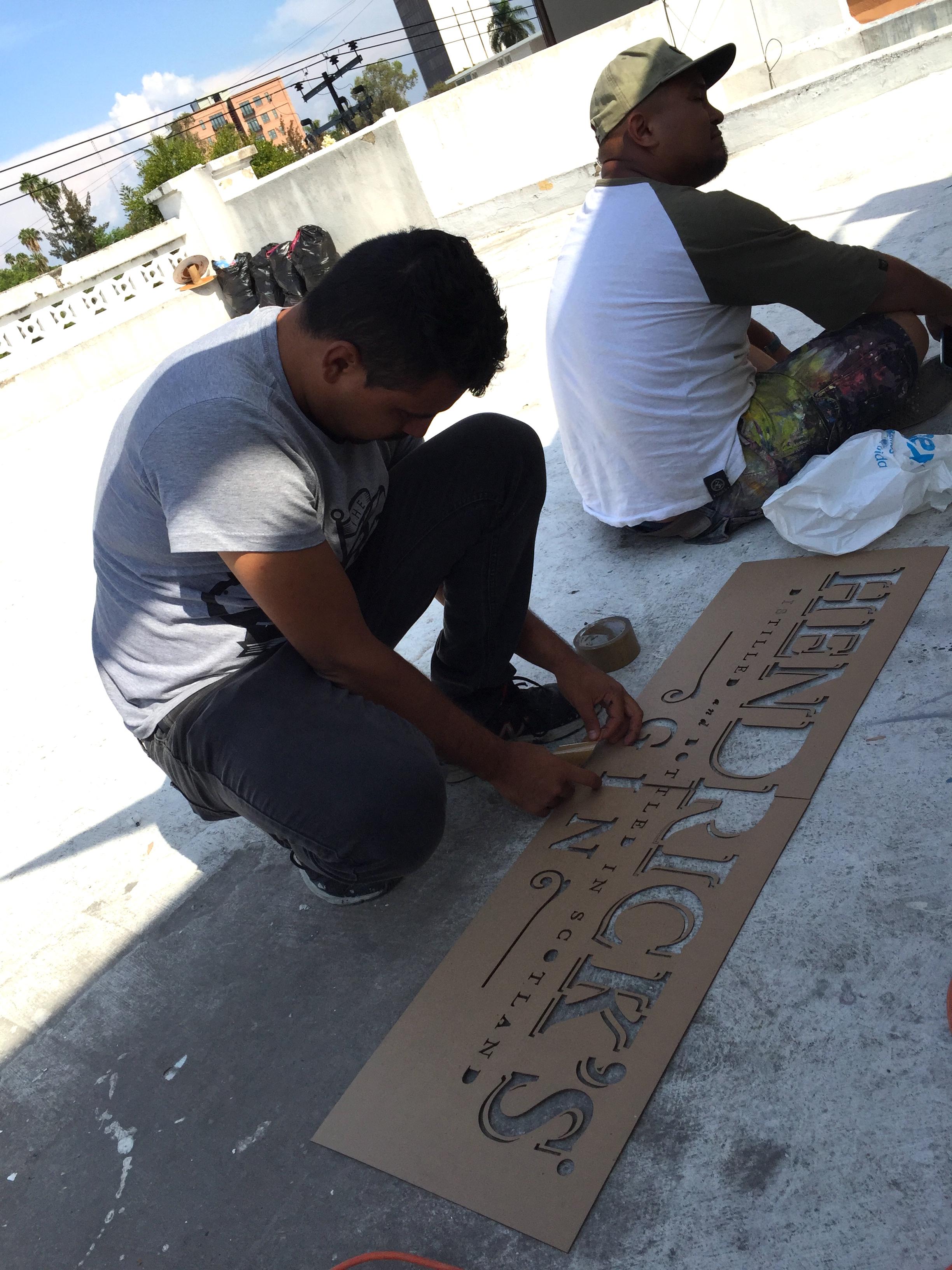 VRS Crew mural art execution in Guadalajara