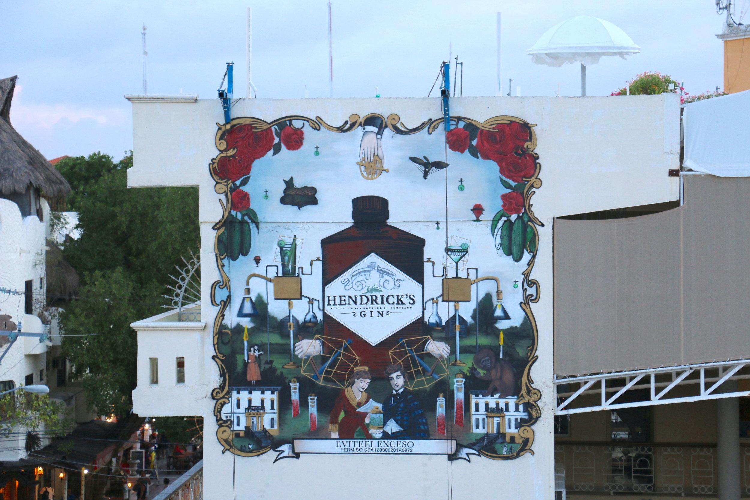 Colorful mural art in Playa del Carmen