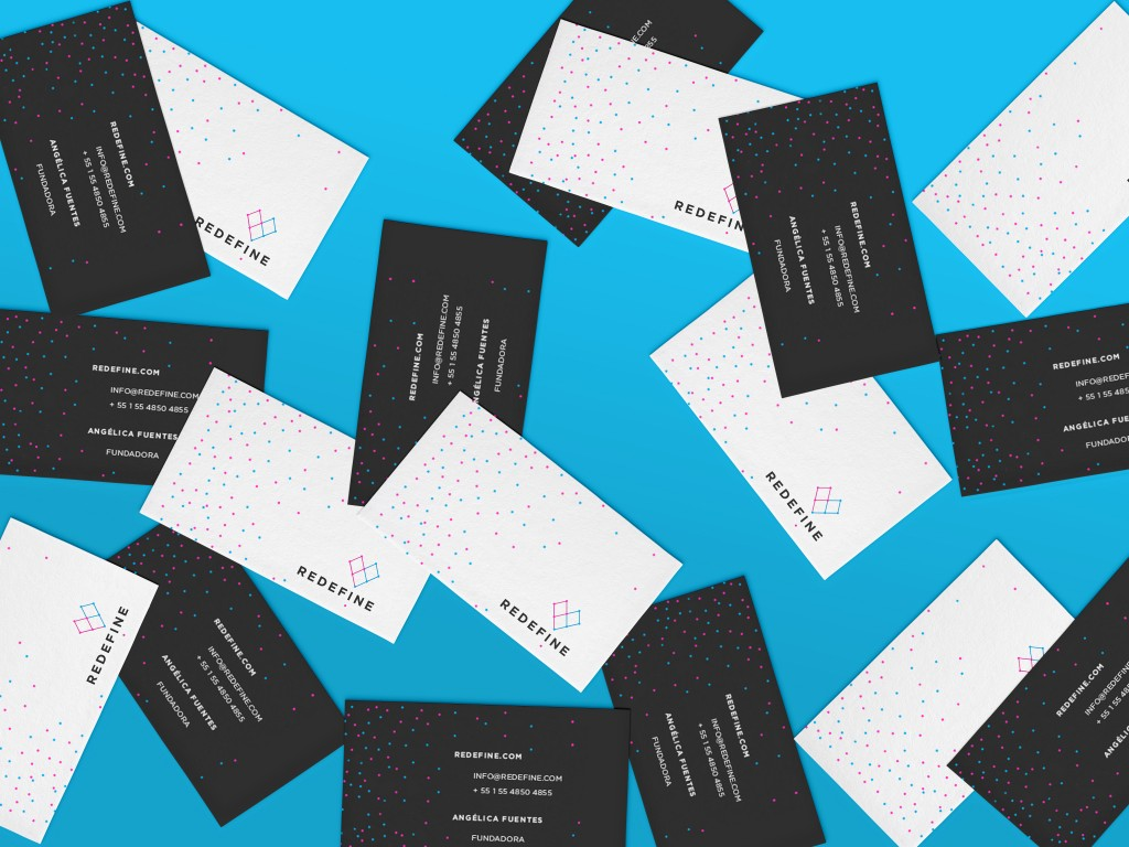 Blue business cards graphic design