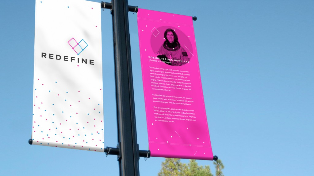 Graphic design for street banners