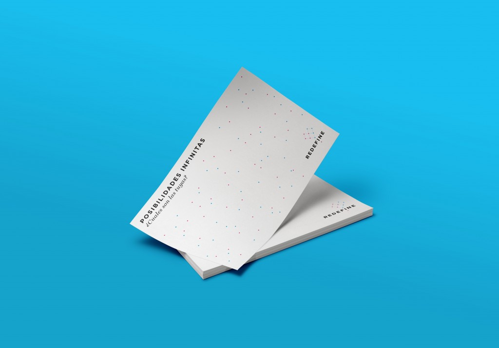 Business cards graphic design for gender equality fund