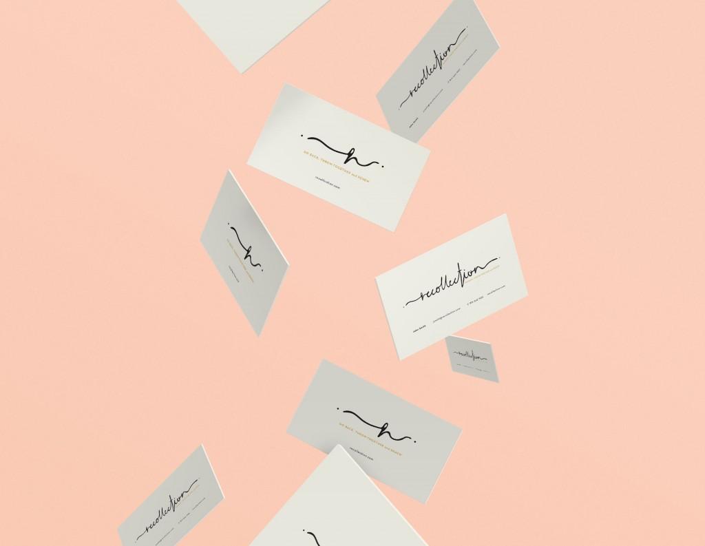 FLYING BUSINESS CARDS DESIGN LETTERING