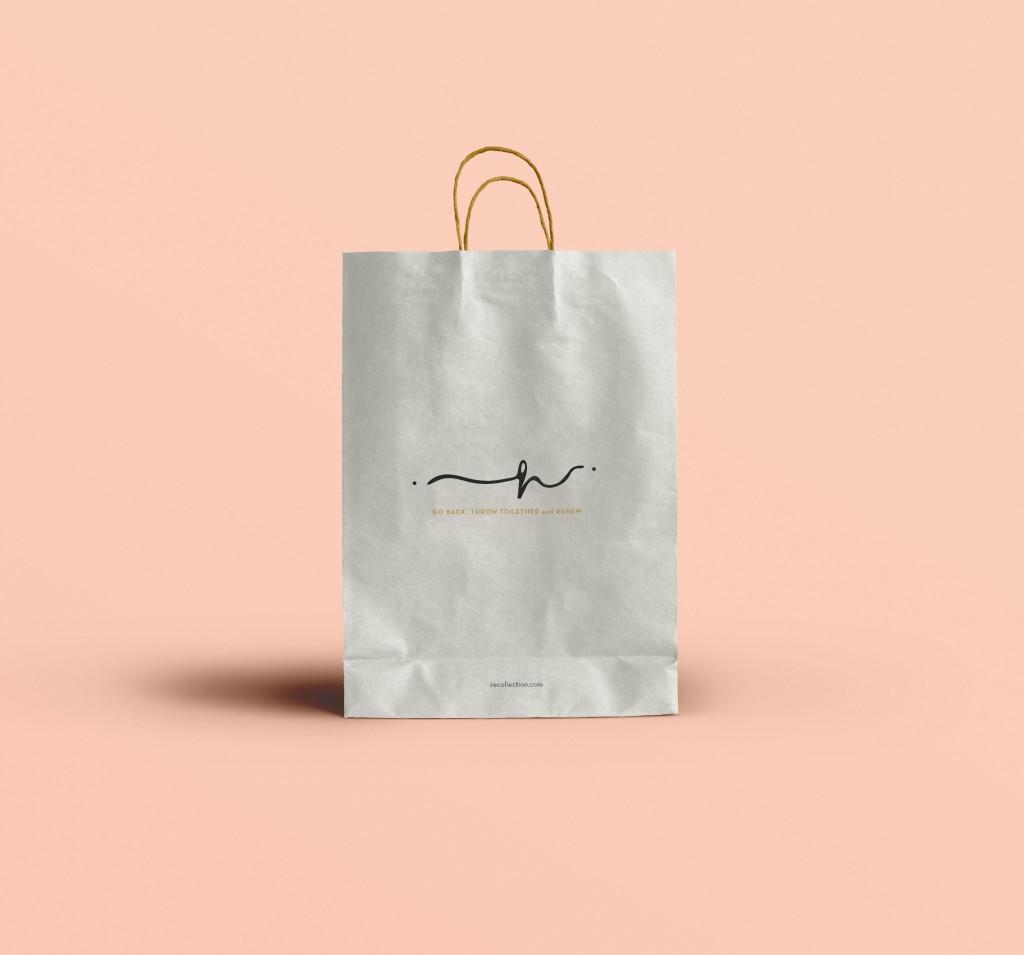 Elegant bag graphic design