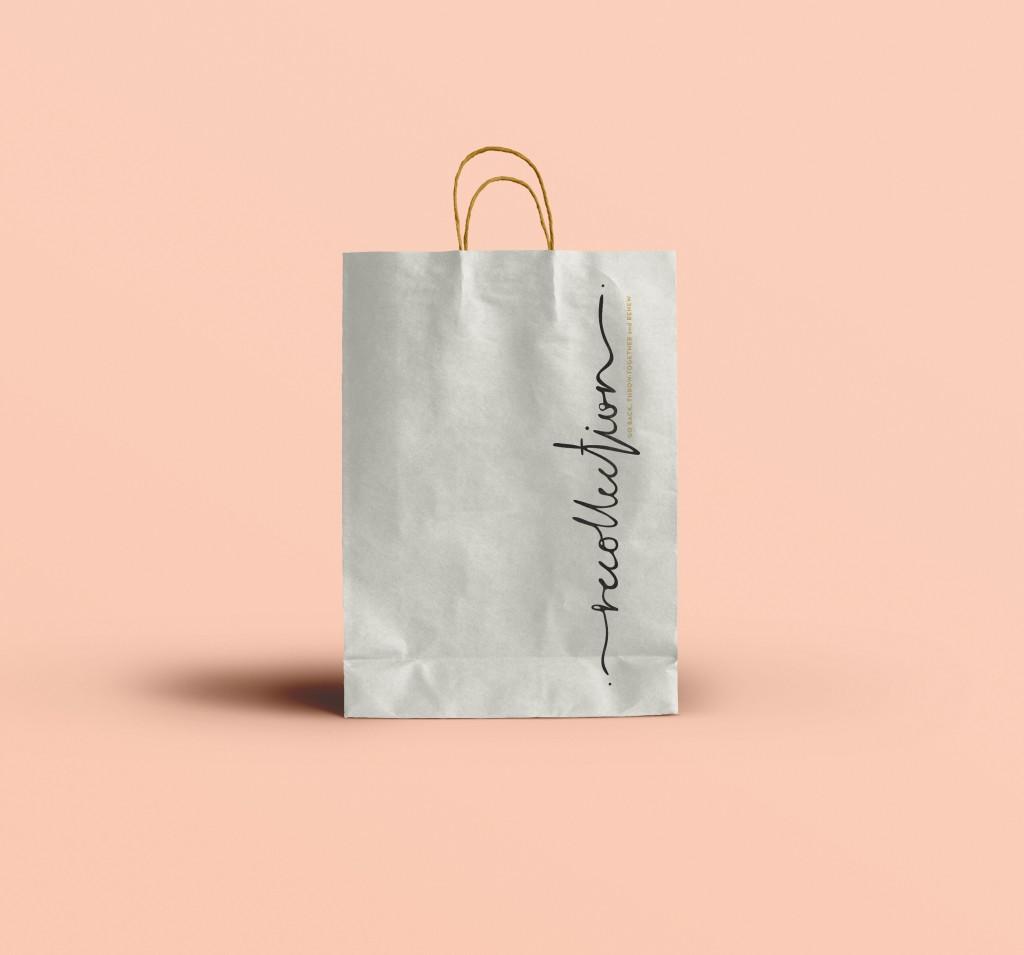 PAPER BAG BRANDING PINK CLOTHING