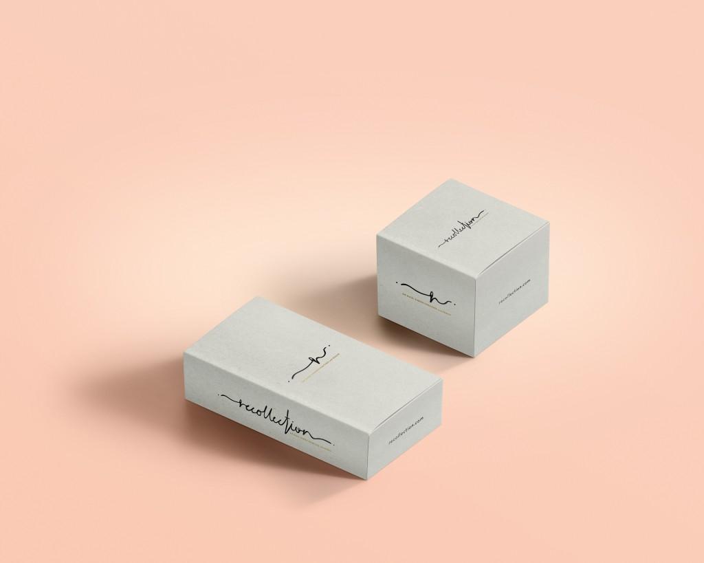 Elegant graphic design for packaging box