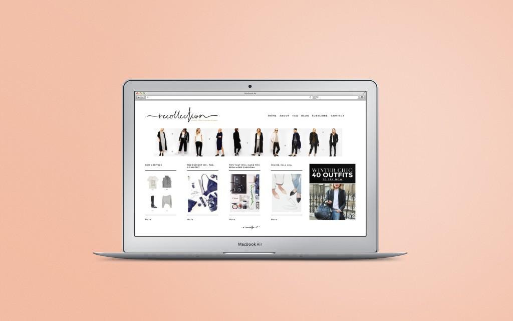 Screenshot of website graphic design