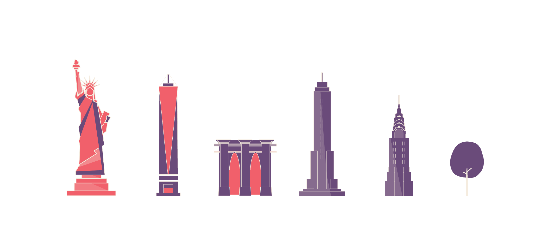 new york icons pictograms