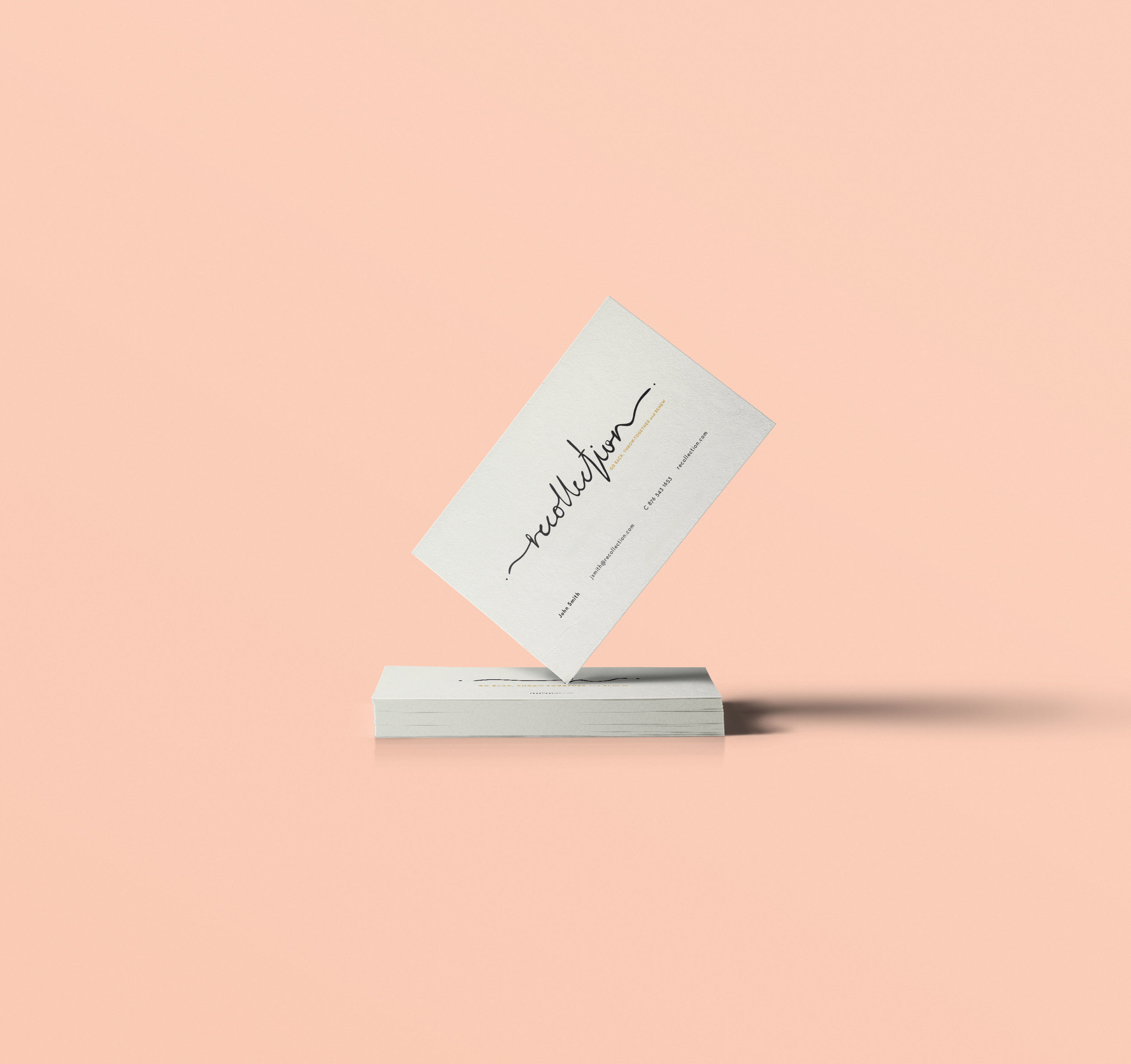 business card lettering