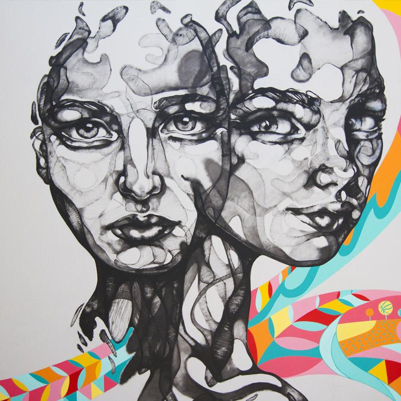 Nike WOMAN murals art