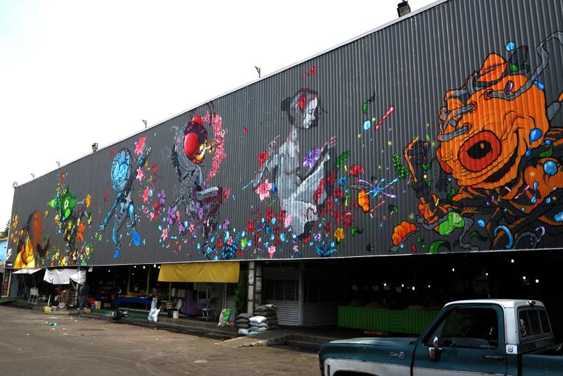 Nike Mercado de las flores Mexico urban art mural