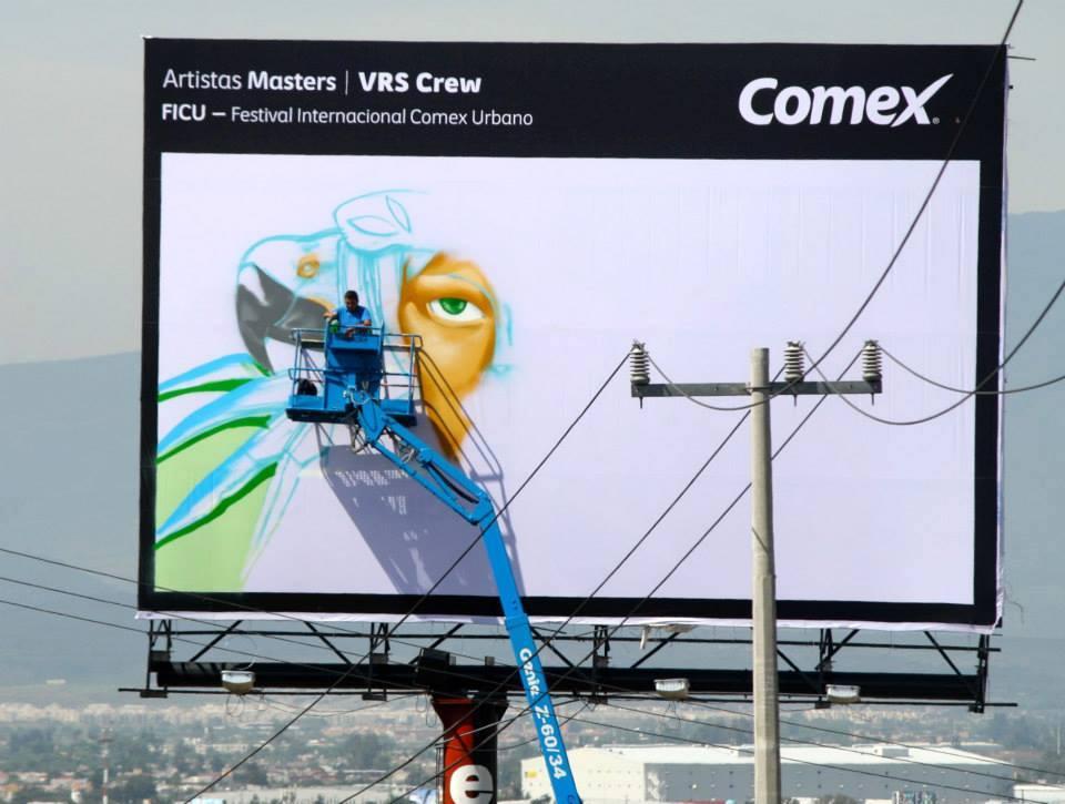 VRS Crew artists painting billboards