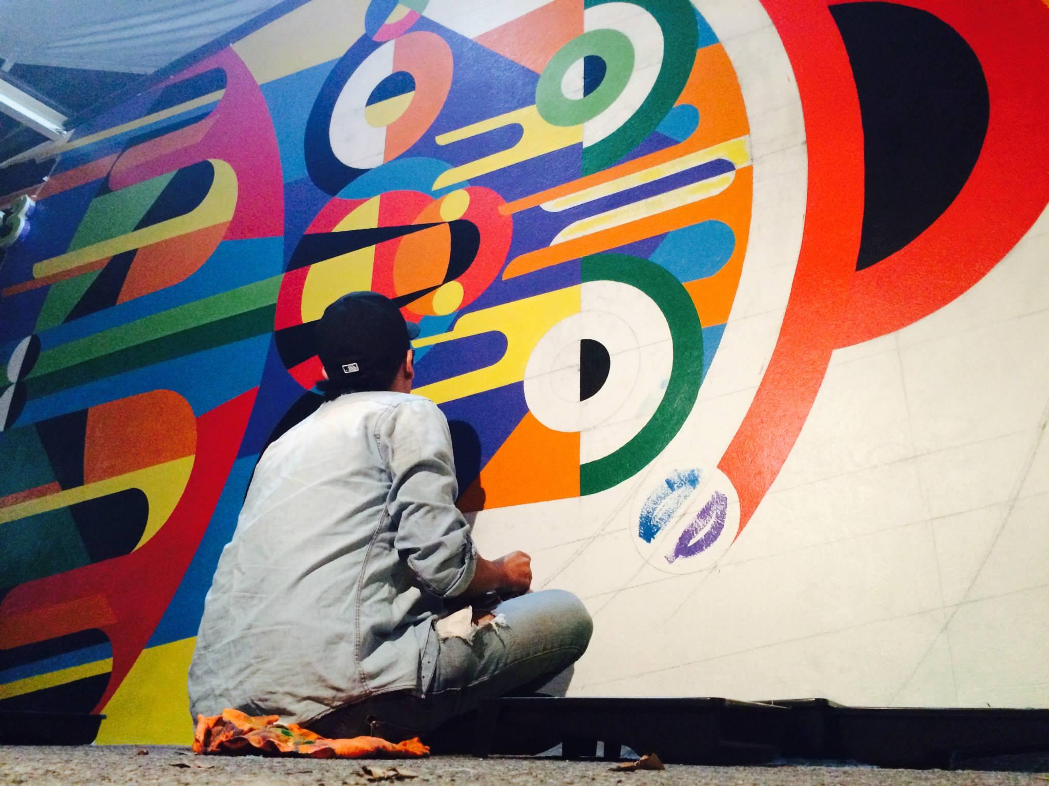 petri pirata comex arto geometric art billboard